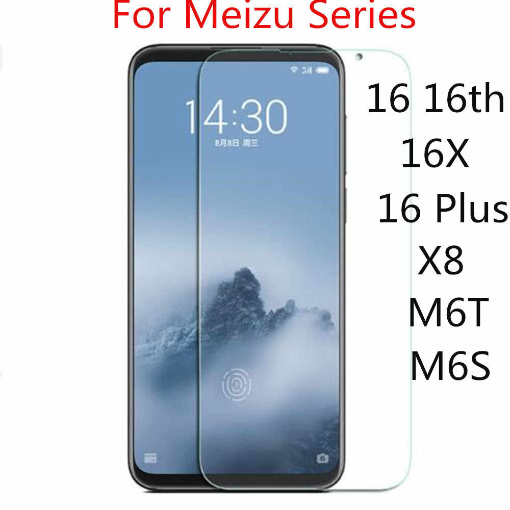 2PCS Meizu 16th Screen Protector For Meizu 16 Plus 16X M6T X8 M6S A5 M5C M5 M6 Note Tempered Glass 9H Toughened Protective Film