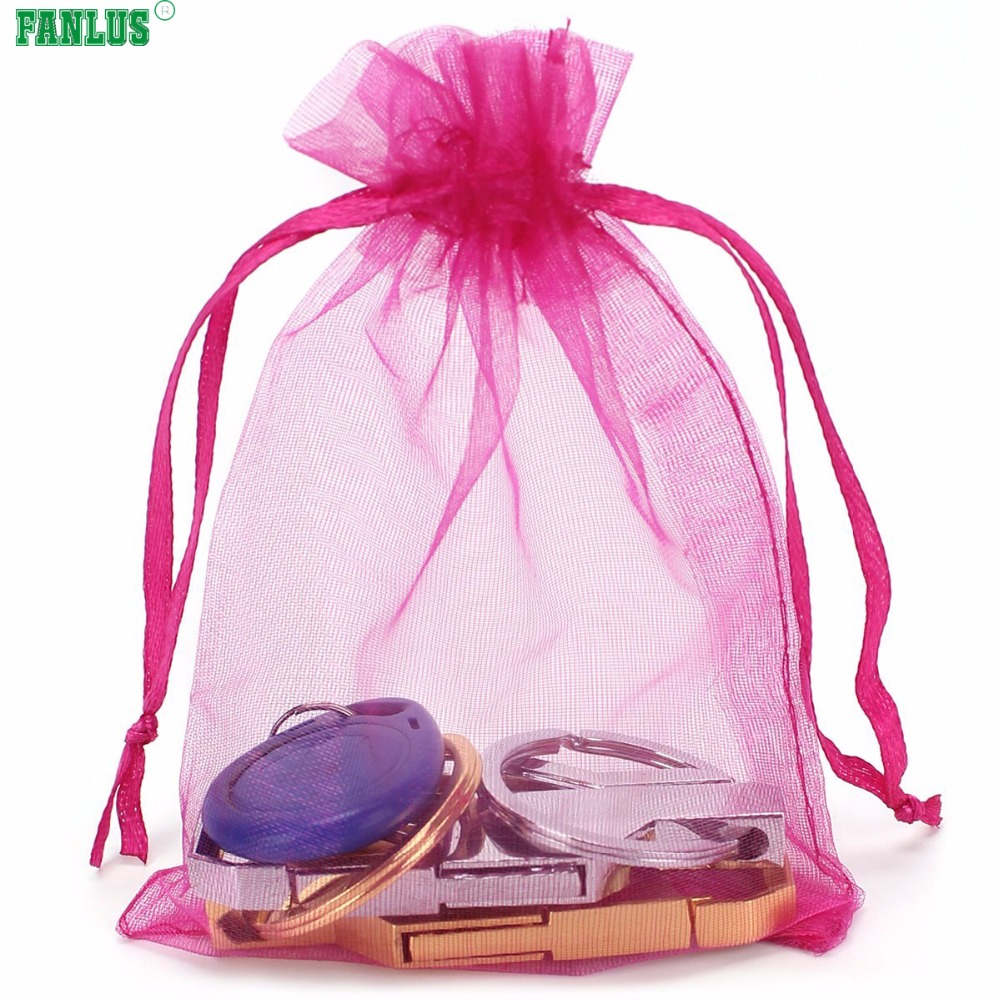 FANLUS 20pcs 2.7x3.5inch (7x9cm) Organza Gift Bags Drawstring ...