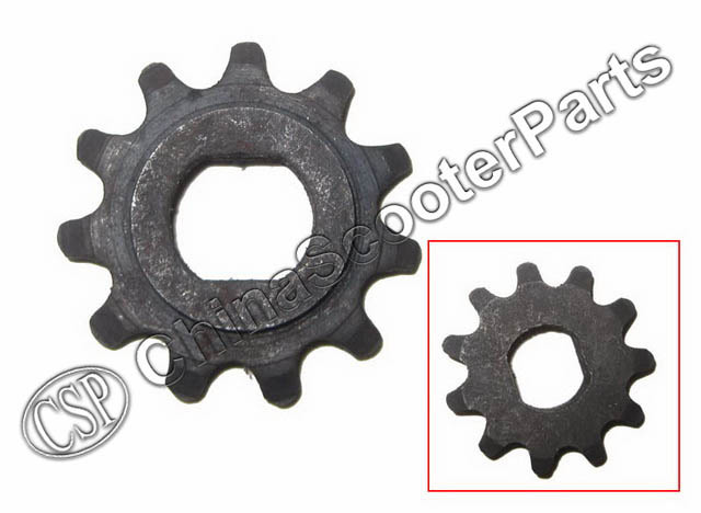 11 Tooth 11T 25H Oval 10MM Razor EVO X-Treme IZIP Gear Sprocket 500W 800W 1000W Electric Scooter MY1020 11t reduction gear box dual sprocket single sprocket for 47cc