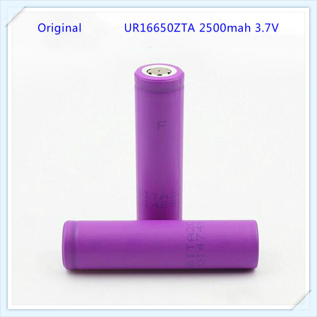 1pc/lot 100% Original For Sanyo UR16650ZTA 16650 2500mah Battery 3.7V Li-ion Rechargeable Battery With Flat Top