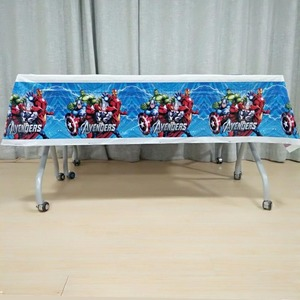 Image 3 - 108cm*180cm Avengers Party Decorations Superhero Party Supplies Tablecloth For Kids Birthday Festival Disposable tablecloth set