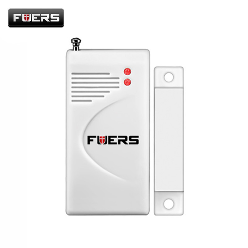 Fuers NEW Wireless Door Window Magnet Sensor Detector For PSTN Home Alarm GSM Security alarma 433mhz door sensor trinidad wolf wireless door sensor home security alarm system door cabinet window magnetic door detector 433mhz with battery