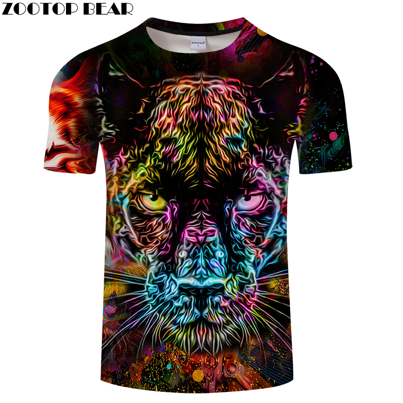 3D   T     Shirts   Animal   T  -  shirts   Men Colorful   T     shirt   Summer Short Sleeve Tops Funny Tees Casual Camisetas Male Brand Top ZOOTOP BEAR