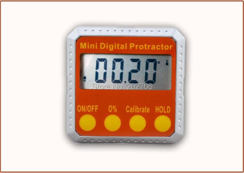 360 градусов Мини цифровой транспортир Инклинометр электронный уровень Коробка двойной магнитной базы измерительные инструменты электронный датчик угла