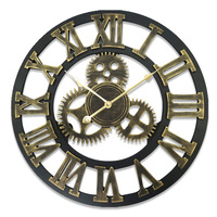 Large Wall Clock Vintage Europe Silent Home Watch Time Kitchen Clock Wood Wall Clocks Living Room Home Decoration Accessories