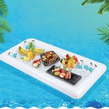 New Summer Inflatable Beer Table Pool Float Water Party Air Mattress Ice Bucket /Salad Bar Tray Food Drink Dining