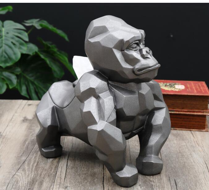 King Kong 3D scultura figura Scimmia Gorilla Home Decor Statua modello nero art