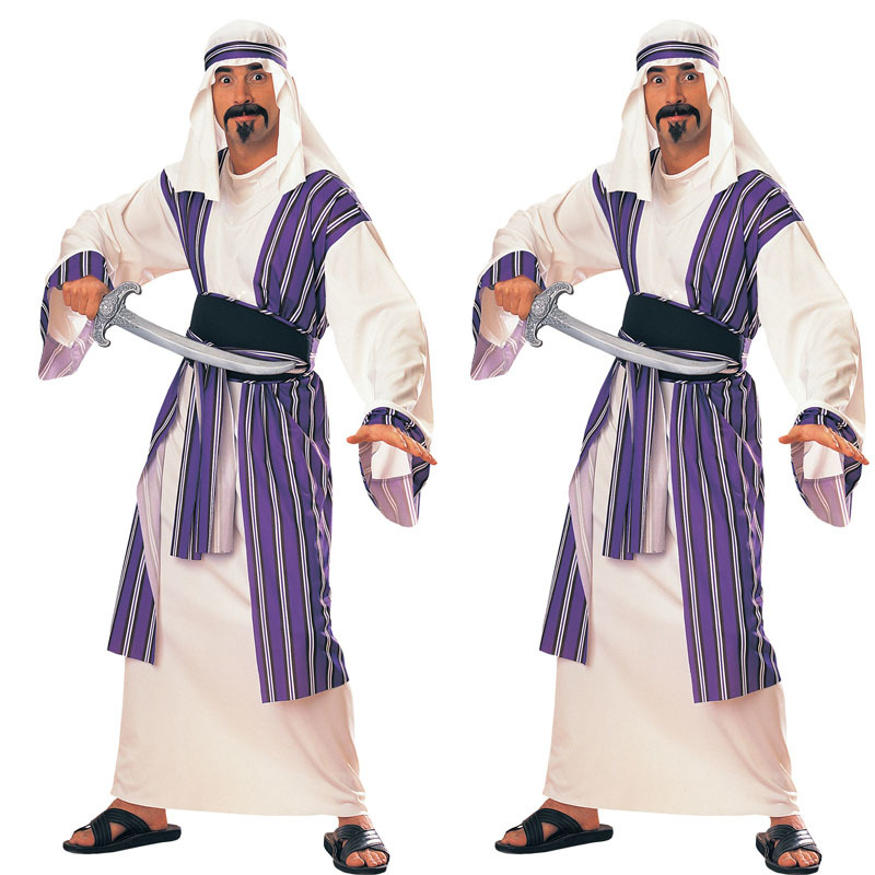 Mens Arab Sheik Costume Adult Halloween Fancy Dress-in Holidays Costumes from Novelty u0026 Special Use on Aliexpress.com | Alibaba Group  sc 1 st  AliExpress.com : sheik halloween costume  - Germanpascual.Com