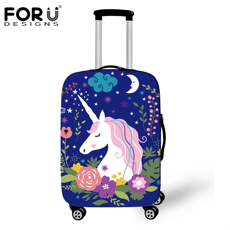 18-30 Inch Pink Suitcase Protective Covers Cartoon Unicorn Luggage Cover Elastic Travel Bag Cover valise 84cm Travel Accessories