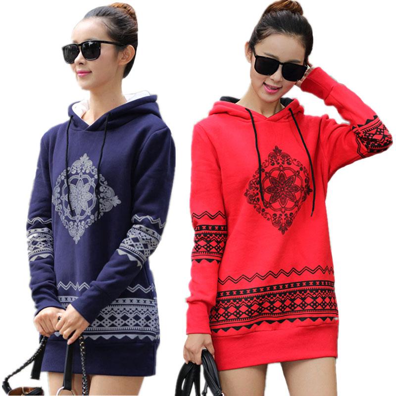 2018 Musim Gugur Musim Dingin wanita Kaus Longgar Berkerudung Pullover Menebal Lengan Panjang Plus Ukuran Kaus Wanita Hoodies S-4XL