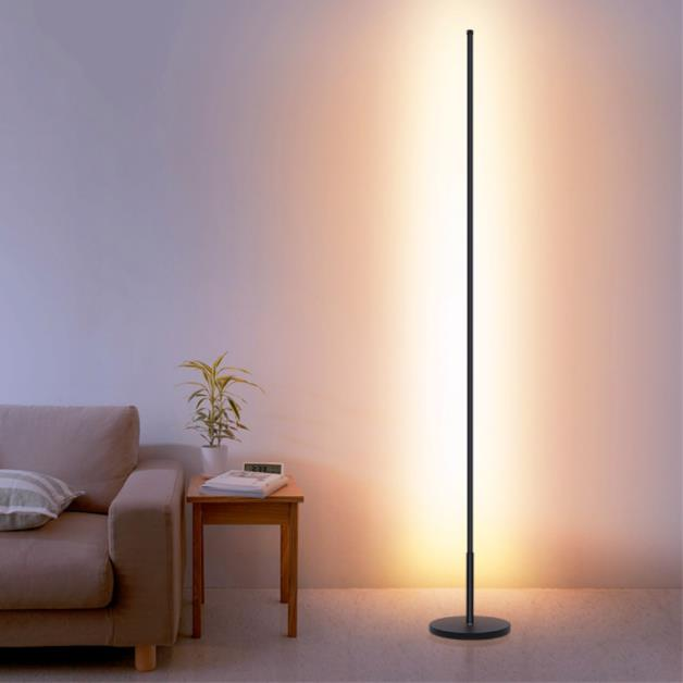 Nordic Minimalist LED Floor <font><b>Lamps</b></font> <font><b>Standing</b></font> <font><b>Lamps</b></font> Living Room Led Black/White Aluminum Luminaria Lamparas Decorate image