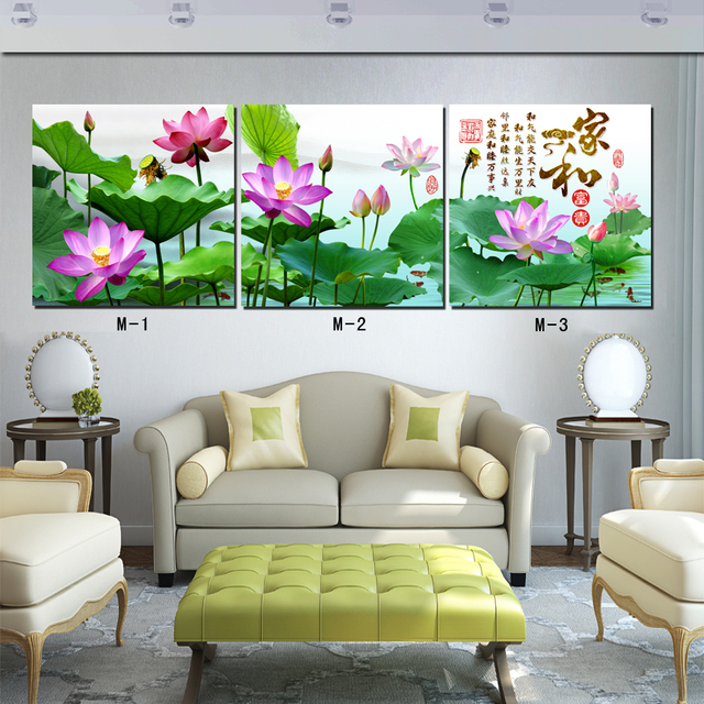 Living Room Decoration 3 Piece Square Canvas Prints 12x1216x16