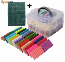 Liyuan 50 Colors Polymer Clay Set [Double-Deck] Colored Modeling Clay Playdough with Tool Set Gift Box for Child 1000g/35.27oz недорого