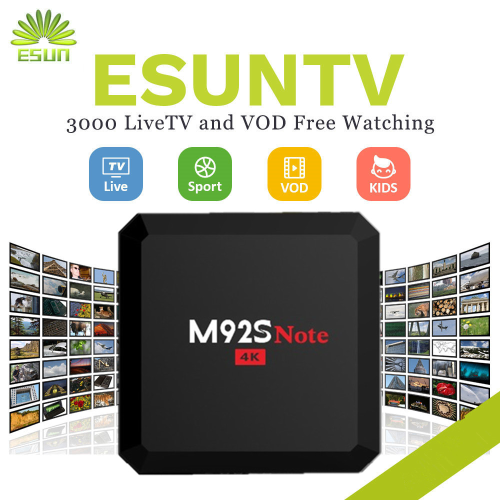 1 Year IPTV included M92S NOTE S912 Android 6.0 TV Box 2/16G Spain UK Germany Italy Netherland Sweden Portugal EX-YU xxx US 2000 italy tv kb2 android tv box 2gb 32gb amlogic s912 spain uk europe italyvod portugal ex yu albania xxx set top box