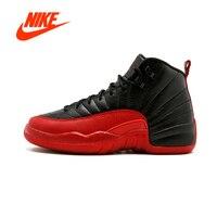 Original New Arrival Authentic NIKE Air Jordan 12 Retro BG AJ 12 Women's 153265 002 Basketball Shoes Sneakers Breathable Outdoor