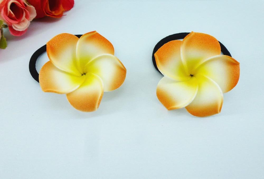 20 New Orange Color Foam Hawaiian Plumeria Flower Frangipani Flower ... 99ff90485ff