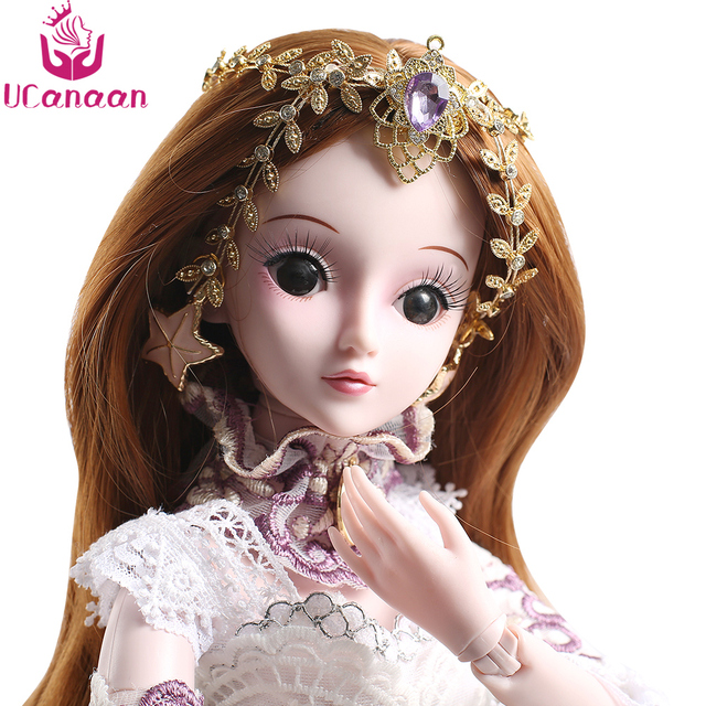UCanaan 5 Styles 1/3 BJD SD Girls Doll 19 Ball Jointed Toys With All Outfits Makeup Children Dressup DIY Dolls 1