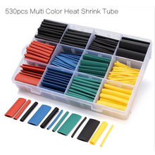 530pcs/box Multi Color Heat Shrink Tube/ Insulation Shrinkable Tube/ Wrap Sleeve Tube Kit for FPV accessory(China)