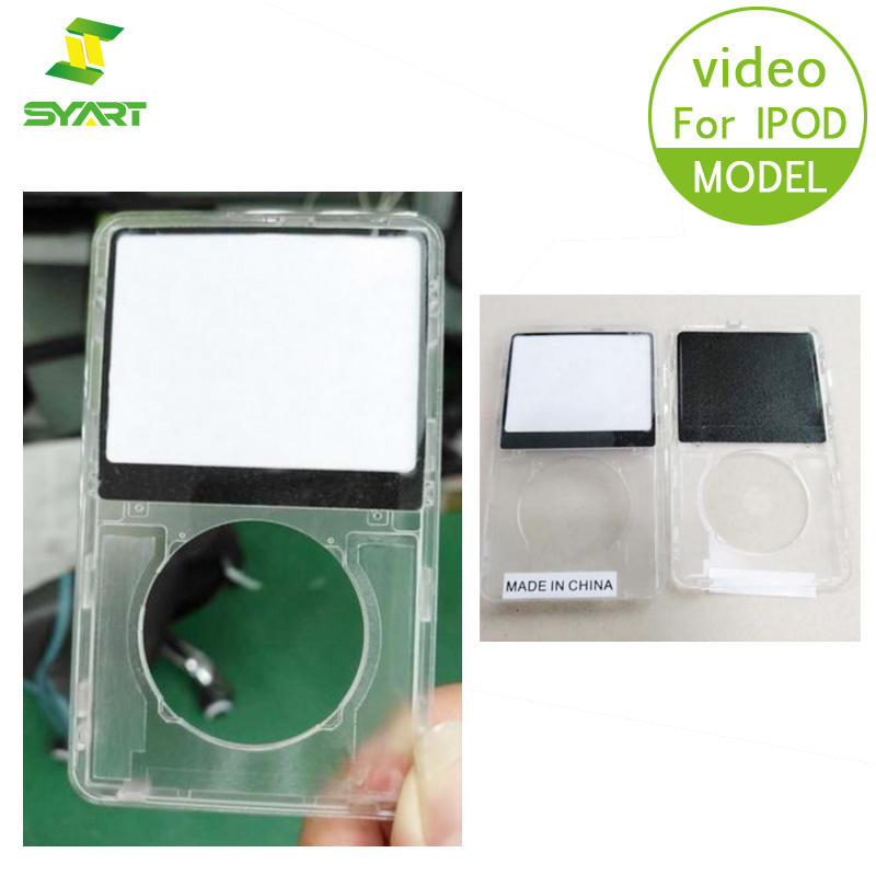 SYART Transparent Front Cover Panel Plate Faceplate Housing For IPod Video
