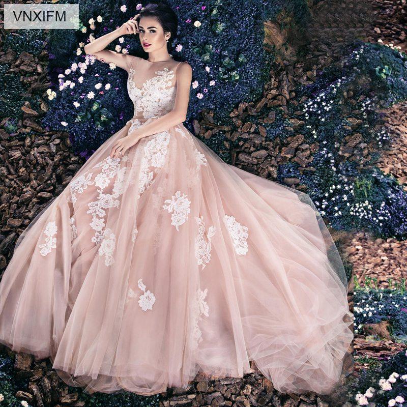 Garden Wedding Gowns: VNXIFM 2019 Fairytale Summer Wedding Dresses Sweetheart 3D