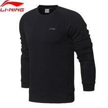Li-Ning мужской тренировочный базовый Вязаный топ-свитер, Классический крой, комфортный спортивный свитер с подкладкой из интерлока AWDN001 MWW1380