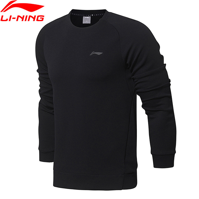 Li-Ning Men Training Essentials PO Knit Top Sweaters Regular Fit Comfort Interlock LiNing Sports Sweater AWDN001 MWW1380
