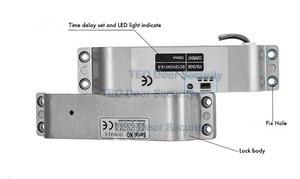 Image 4 - تصميم جديد سطح شنت مسمار كهربائي قفل DC12V فشل آمنة لباب خشبي ديدبولت NC وضع فشل مزلاج باب الالكترونيات آمنة