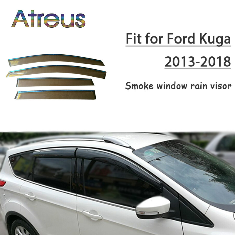 Atreus 1 set ABS pour 2018 2017 2016 2015 2014 2013 Ford Kuga accessoires voiture évent déflecteurs de soleil garde fumée fenêtre pare-pluie
