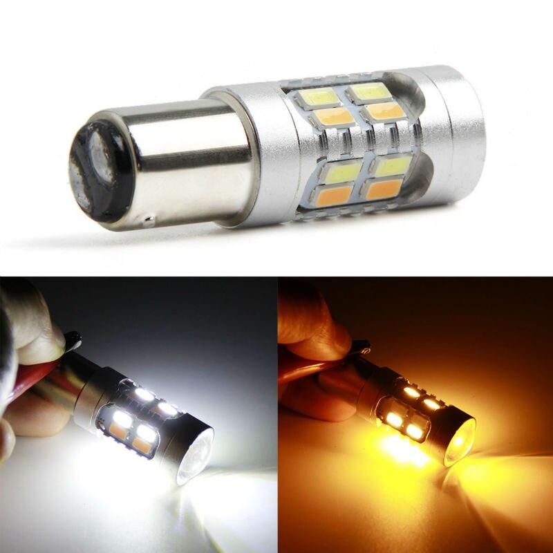 2 шт. 1157 BAY15d лампы 12 LED 5630 SMD высокой Мощность лампы стоп-сигналы двойной Цвета P21/5 Вт светодиодные лампы автомобиля Автомобильный источник св... ...
