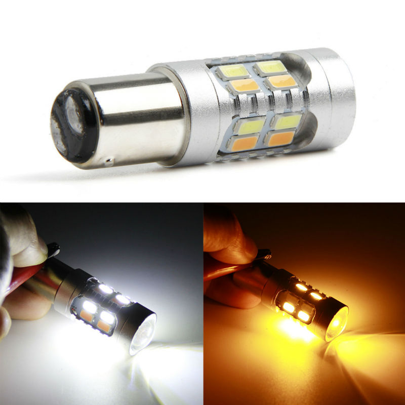 2PCS 1157 BAY15D Bulbs 12 led 5630 smd High Power lamp brake Lights Double Colors p21/5w led car bulbs Car Light Source 12V