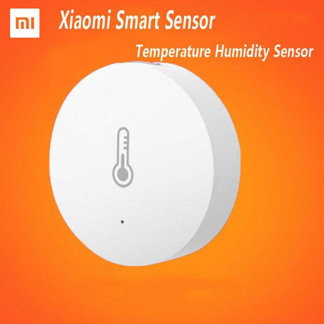 2017 nueva xiaomi inteligente hogar temperatura y sensor de humedad, mi trabajo del sensor inteligente domótica inteligente para ios android