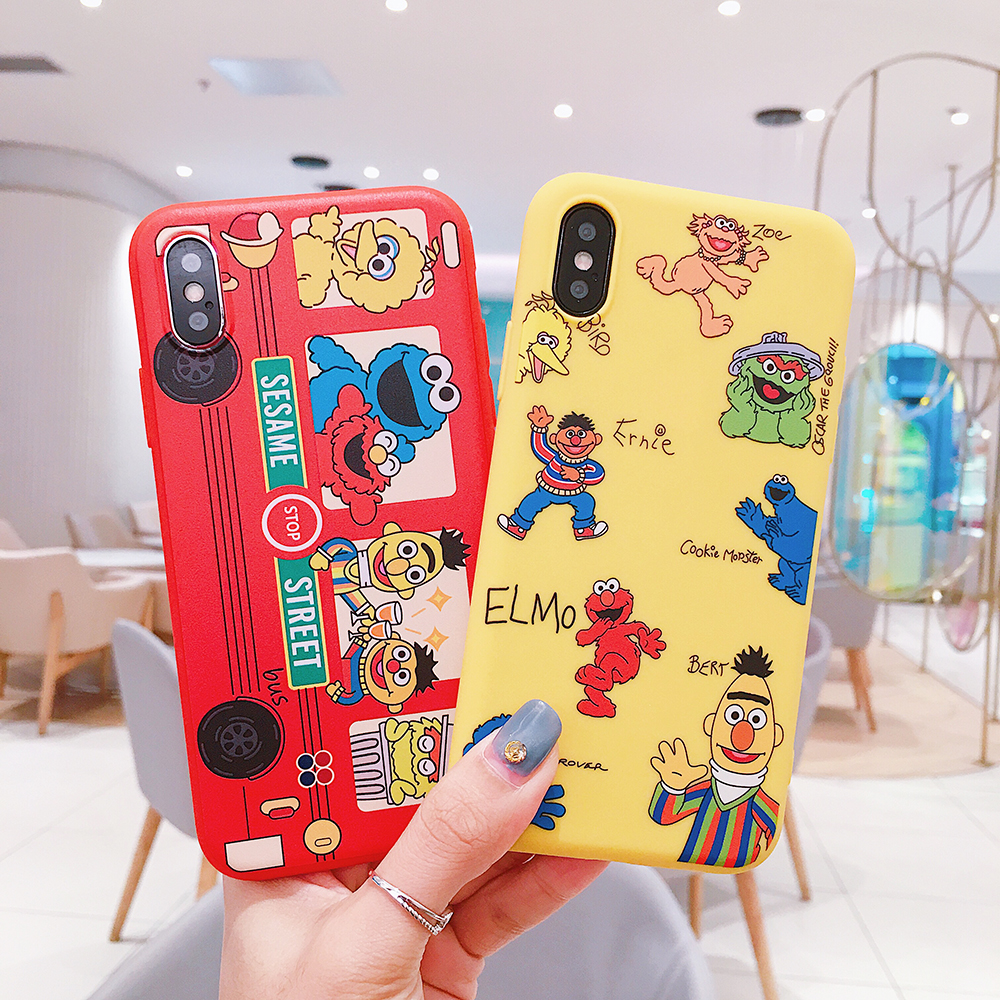 For Fun cartoon appleX876 mobile phone shell iphone8plus7plus anti-drop silicone soft set men and women