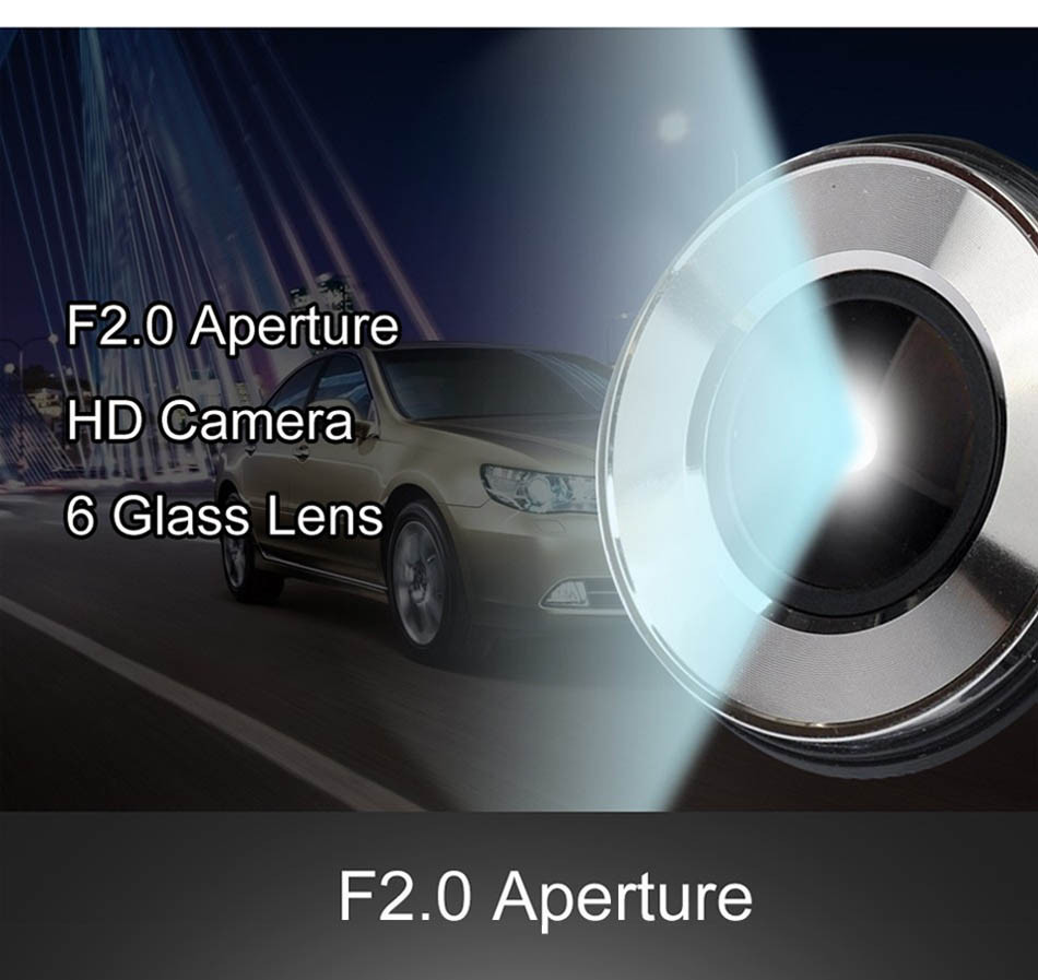 Mini Car DVR H801B With Rear View Camera Dual Lens Dash Cam 4 Inch Full HD 1080P+720P WDR Video Recorder Portable Camcorders-3