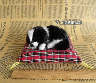 about 13x12cm mat dog model handicraft,sounds bark dog,plastic&fur sleeping dog prop ,car decoration toy Xmas gift w5981