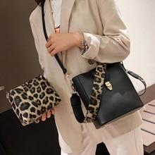 ETAILL Wide Strap Bucket Bag for Girl Famous Brand Shoulder Crossbody Bag for Women Set Fashion Women Leopard Composite Bags