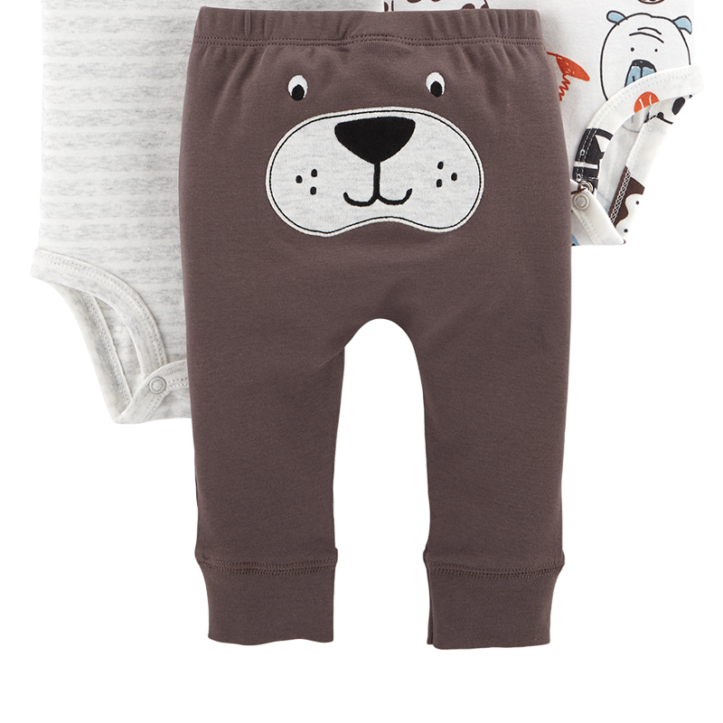 Carters 3 Piece Little Character Set Cute bodysuits long pant baby girl  autumn winter clothes newborn baby boy clothing 126H494-in Clothing Sets  from Mother ... cae79a2a6