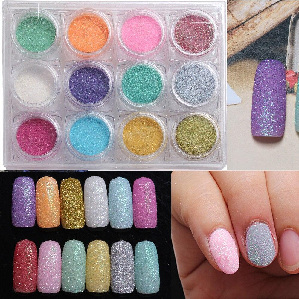 2 g/caja sirena Brillos de uñas Polvos de maquillaje shimmer ...