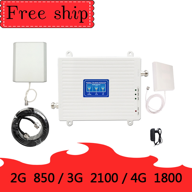 TFX-BOOSTER  2g 3g 4g  Signal Booster Tri Band 9dbi Antenna 850/1800/2100mhz  CDMA  WCDMA UMTS LTE Cellular Repeater  Amplifier