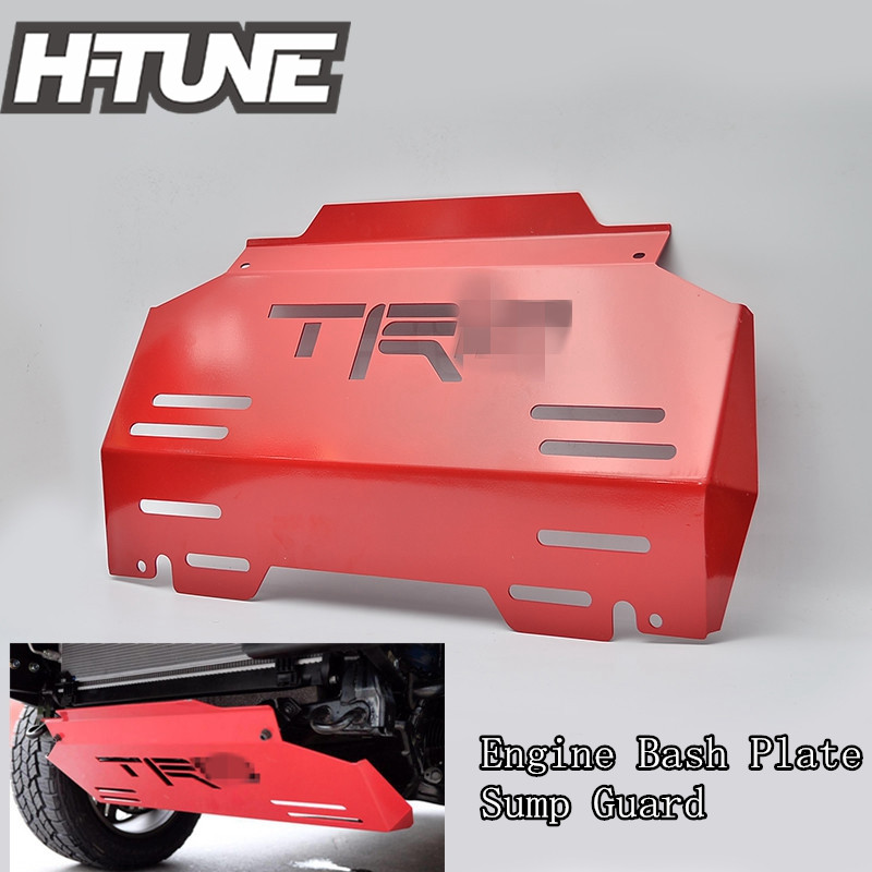 H-TUNE 4x4 Pickup 4mm Steel Front Sump Guard Engine Bash Plate Cover For Hilux REVO 2015+ цена 2017