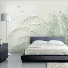 Custom 3d wallpaper Xiaoqing new hand-painted minimalist living room bedroom wall - high-grade waterproof material