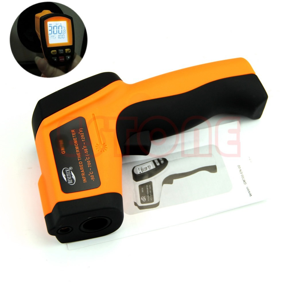 GM900 Digital Infrared Thermometer Non-Contact LCD IR Laser Temperature Gun L15 цена