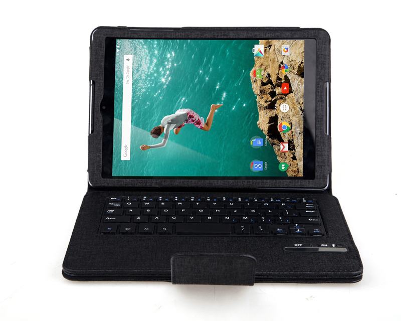 2 in 1 Support Russian&Other Letter Removable Wireless Bluetooth Keyboard & PU Leather Stand Cover Case For Google Nexus 9 8.9