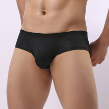 Sexy Men Underwear Cotton Briefs Shorts Low Waist Panties Man Solid U Convex Pou