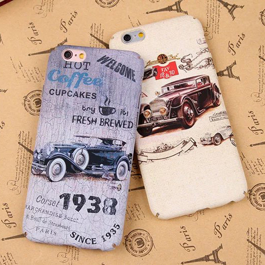 Retro Car Phone Case For iPhone 7 / iPhone 7 Plus / 6s / 6 Plus