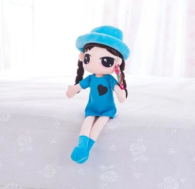cute doll 60cm pretty girl with hat plush toy doll soft toy, Christmas birthday gift x048 stuffed animal 120 cm cute love rabbit plush toy pink or purple floral love rabbit soft doll gift w2226