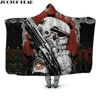 Star Wars Hooded Blanket for Kids Decoration Gifts Custom Sherpa Bedspread Travel Wearable Fleece Blanket Drop Ship