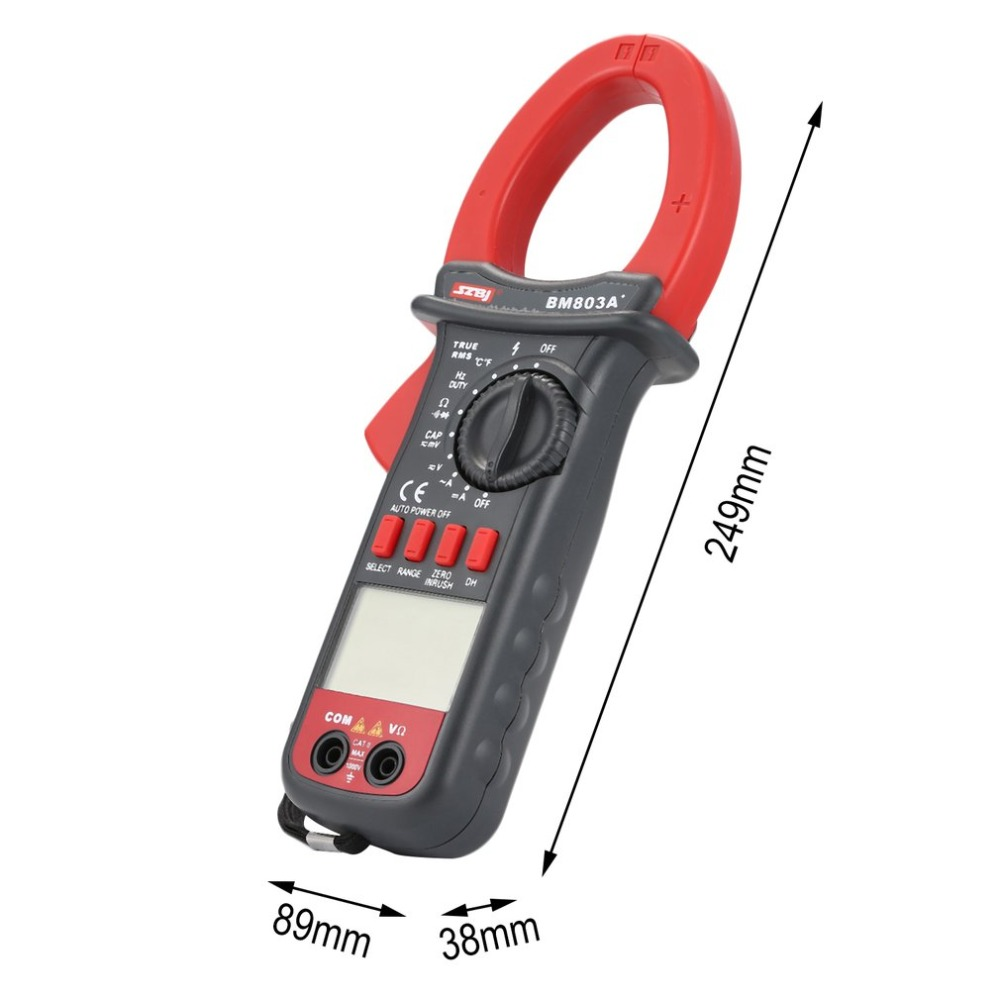 SZBJ BM803A+ 3999 Counts Digital Clamp Multimeter AC/DC Voltage Current Tapacitor frequency temperature tester True RMS
