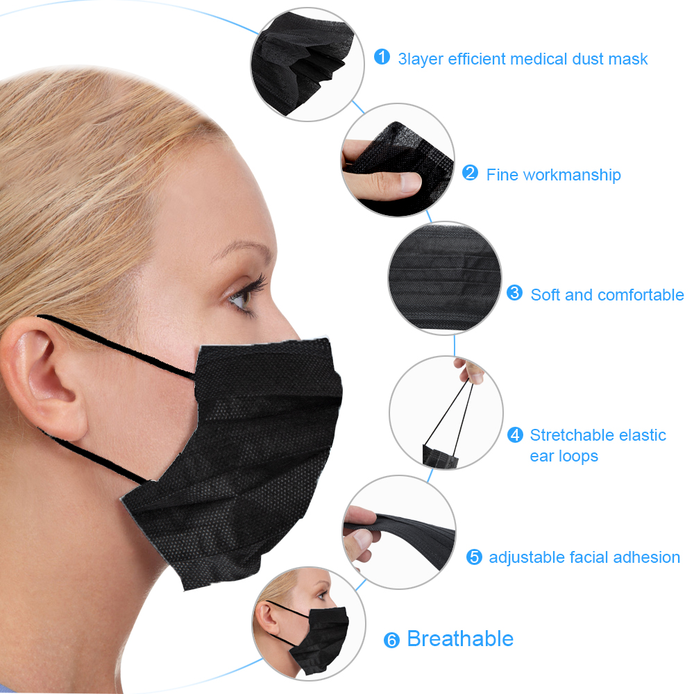 Image 5 - 20PCS/Pack Anti dust Windproof Mask Nose Protection Face Mouth Mask Fashion Non woven Fabric Masks-in Nail Art Equipment from Beauty & Health