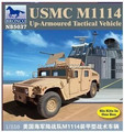 Modelo Bronco NB5037 1/350 USMC M1114 Up - blindado tático de veículos kit modelo de plástico