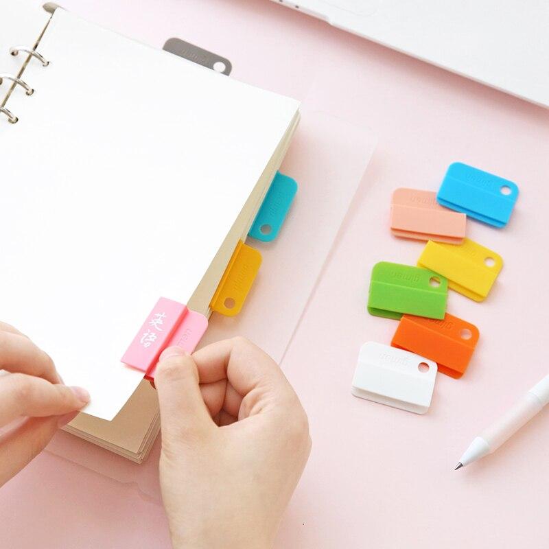 6 шт. многоцелевой Блокнот Памятка клип легко зажимы этикетка зажим для бумаг метки папок повседневные зажимы ручной работы DIY для хранения дома и офиса